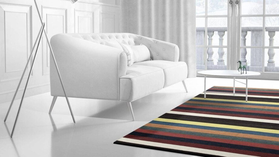 Mae Artisan Rugs | Contemporary Clown Lines Kelim 1319 1.85 x 2.80 Rectangular 2m X 3m Mae Rugs Template Side View 2