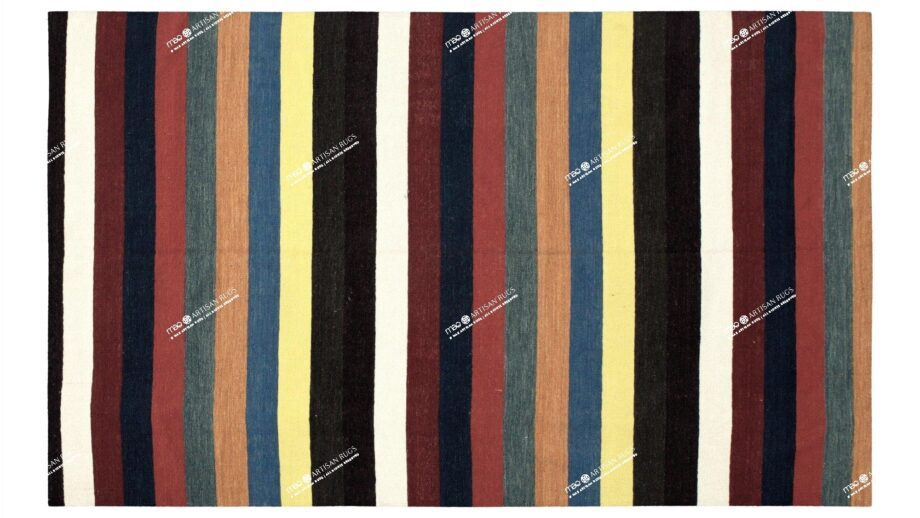 Mae Artisan Rugs | Contemporary Clown Lines Kelim 1319 1.85 x 2.80 Rectangular 2m X 3m Mae Rugs Template Top View
