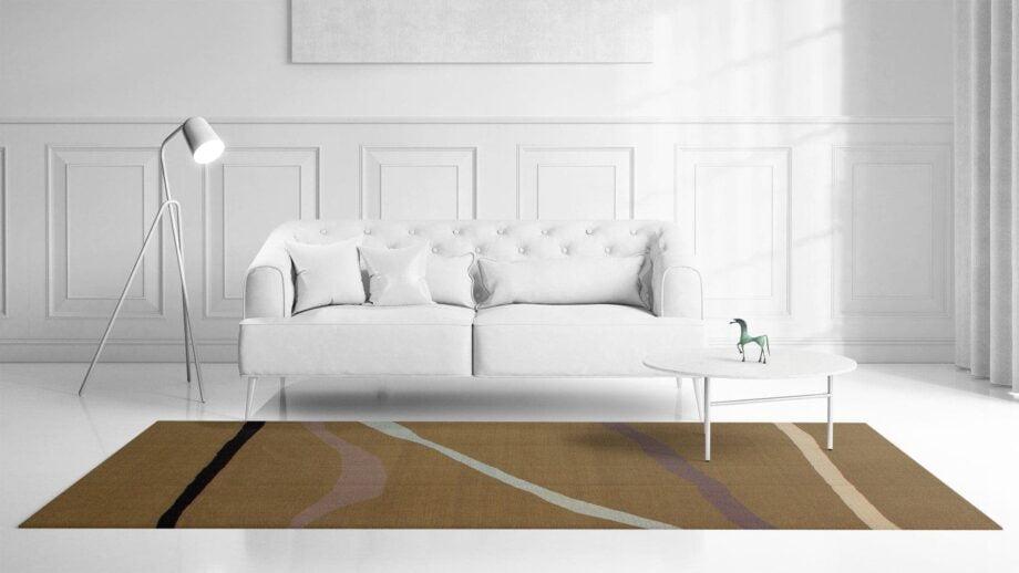 Mae Artisan Rugs | Contemporary Drawn Lines Kelim 11105 1.80 x 2.80 Rectangular 2m X 3m Mae Rugs Template Front View
