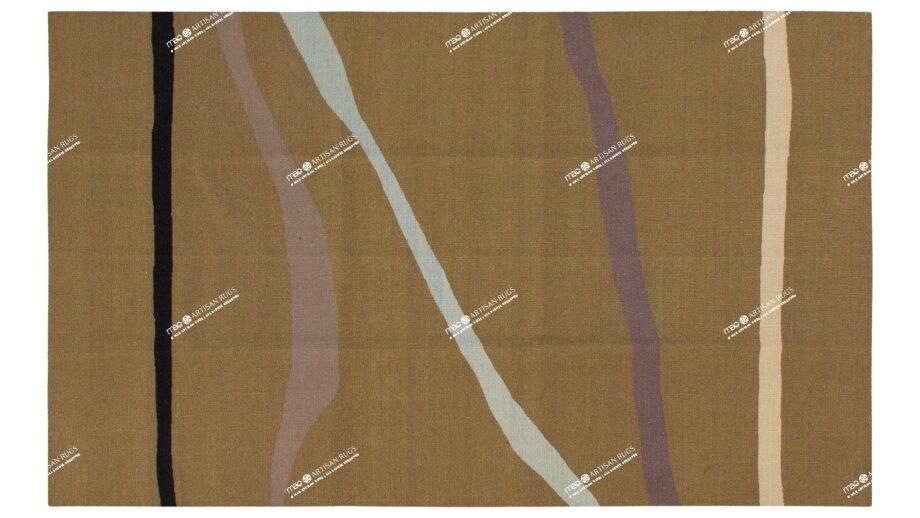 Mae Artisan Rugs | Contemporary Drawn Lines Kelim 11105 1.80 x 2.80 Rectangular 2m X 3m Mae Rugs Template Top View