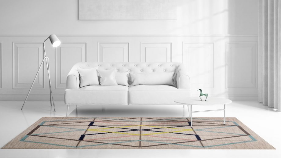 Mae Artisan Rugs | Contemporary Embroidered Kelim 3 x 2.50 Rectangular 2.5m X 3m Mae Rugs Template Front View scaled