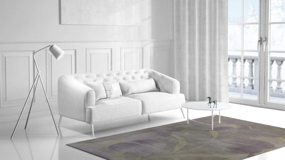 Mae Artisan Rugs | Contemporary The Lily Tibetan 1068 1.82 x 2.81 Rectangular 2m X 3m Mae Rugs Template Side View 1