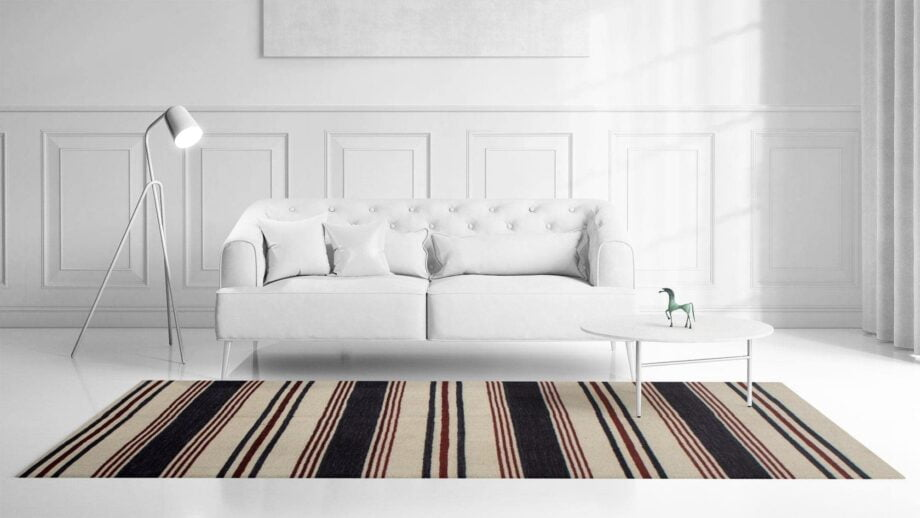 Mae Artisan Rugs | Contemporary The Marine Kelim 1465 2.0 x 3.0 Rectangular 2m X 3m Mae Rugs Template Front View