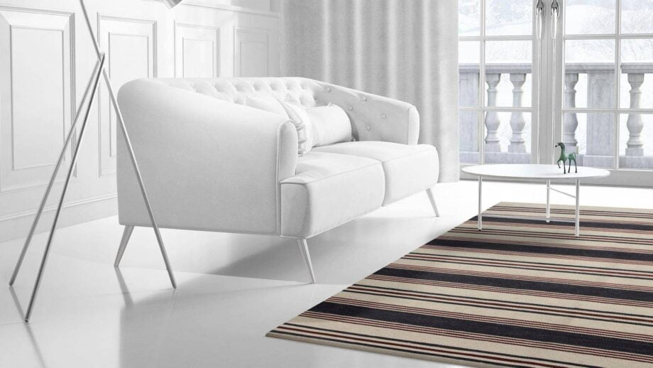 Mae Artisan Rugs | Contemporary The Marine Kelim 1465 2.0 x 3.0 Rectangular 2m X 3m Mae Rugs Template Side View 2