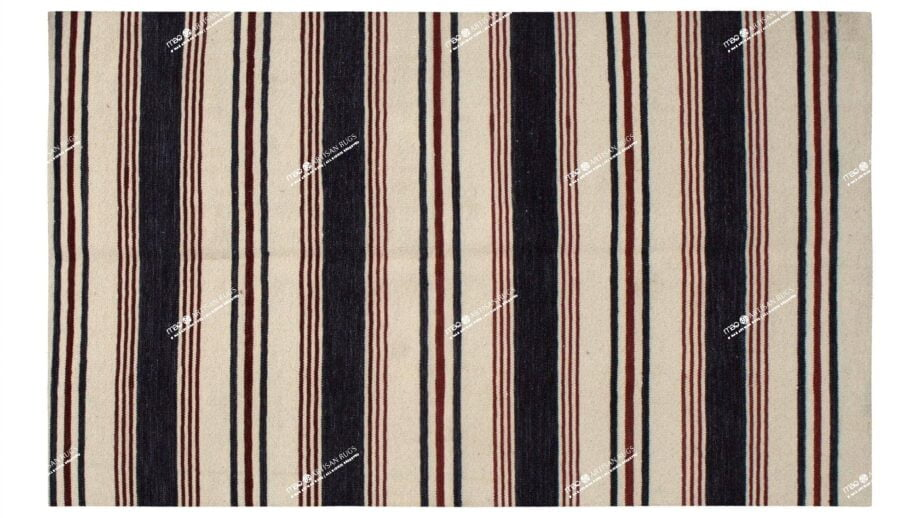 Mae Artisan Rugs | Contemporary The Marine Kelim 1465 2.0 x 3.0 Rectangular 2m X 3m Mae Rugs Template Top View