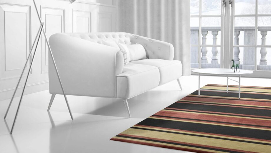 Mae Artisan Rugs | Contemporary himalaya stripe C1278 3.03 x 2.51m 3 x 2.50 Rectangular 2.5m X 3m Mae Rugs Template Side View 2 scaled