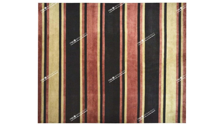 Mae Artisan Rugs | Contemporary himalaya stripe C1278 3.03 x 2.51m 3 x 2.50 Rectangular 2.5m X 3m Mae Rugs Template Top View