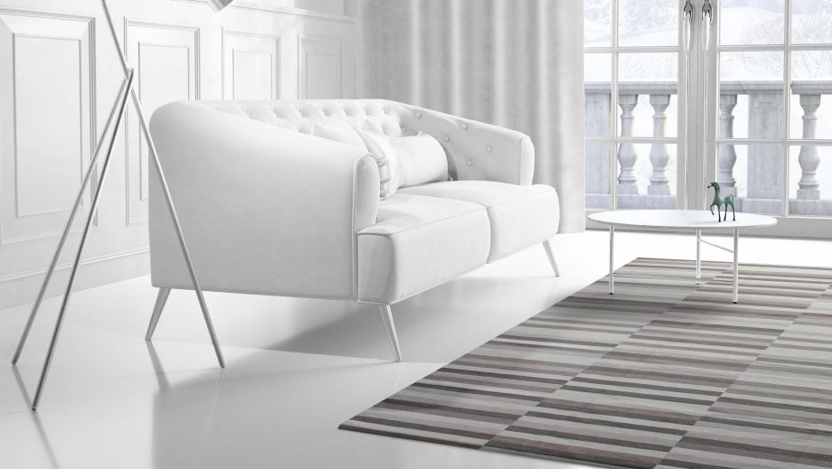 Mae Artisan Rugs | Contemprary The 3 Candies Kelim 1626 3 x 2.50 Rectangular 2.5m X 3m Mae Rugs Template Side View 2 scaled