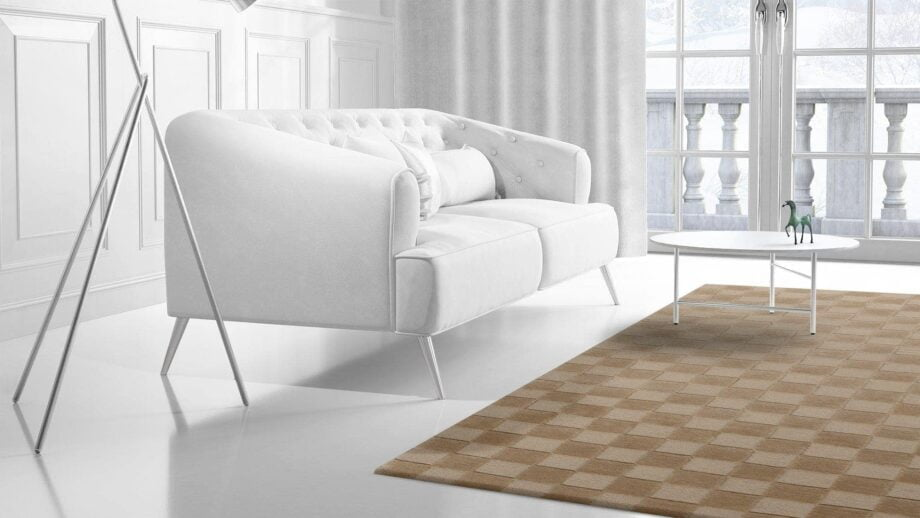 Mae Artisan Rugs | Himalaya Chess Board Biscuit C1270 1.98 x 1.34 1m X 2m Mae Rugs Template Side View 2