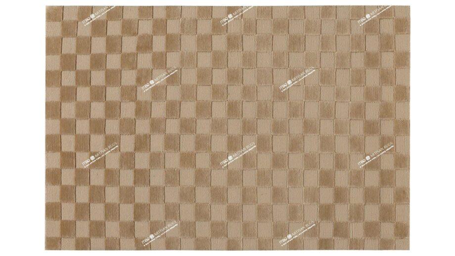 Mae Artisan Rugs | Himalaya Chess Board Biscuit C1270 1.98 x 1.34 1m X 2m Mae Rugs Template Top View