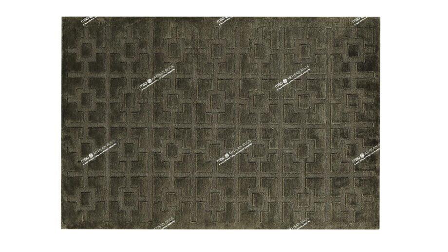 Mae Artisan Rugs | Himalaya Green 1127 100150 1m X 1.5m Mae Rugs Template Top View