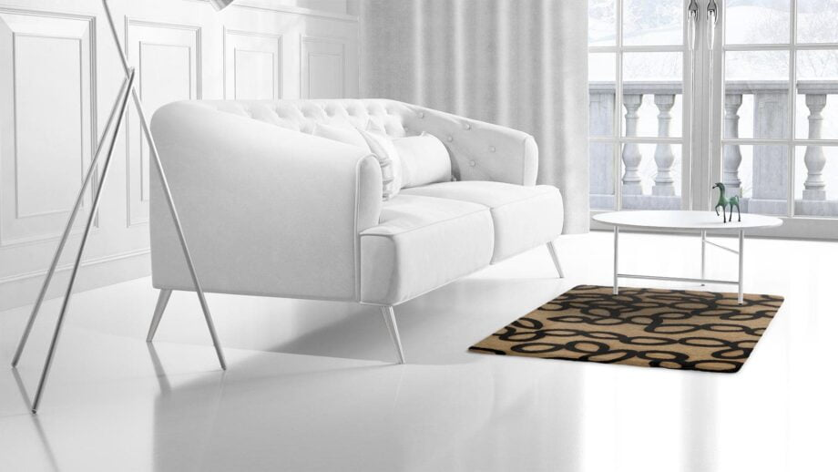 Mae Artisan Rugs | Himalaya Linked Circle 60490 1.46 x 1.03m 1m X 1.5m Mae Rugs Template Side View 2