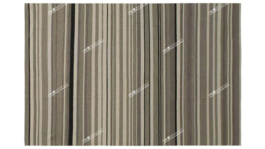Mae Artisan Rugs | Kelim Stripes Candy Stripe Grey 1354 3.00 x 2.50m 2.5m X 3m Mae Rugs Template Top View
