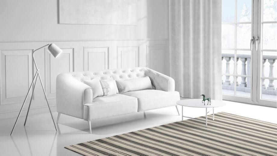 Mae Artisan Rugs | Kelim Stripes Hip Grey Black White 1281 3.00 x 2.50m 2.5m X 3m Mae Rugs Template Side View 1
