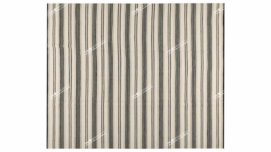 Mae Artisan Rugs | Kelim Stripes Hip Grey Black White 1281 3.00 x 2.50m 2.5m X 3m Mae Rugs Template Top View