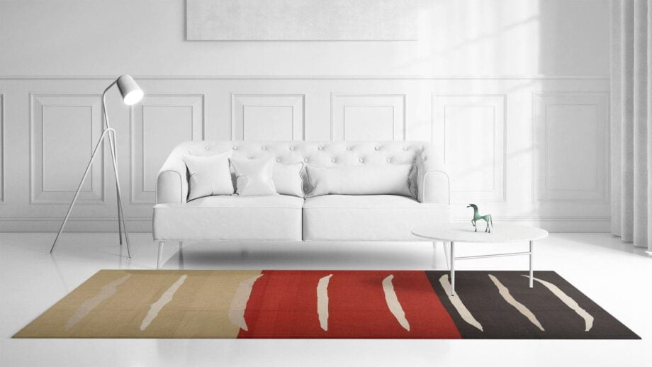 Mae Artisan Rugs | NN kelim old MP stock stripes 4.00 x 3.00m Mae Rugs Template Front View